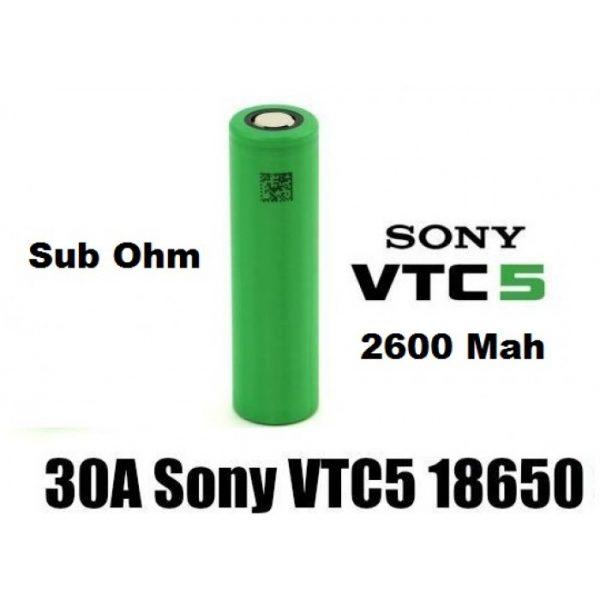 sony vtc5 18650 2600mah 30а